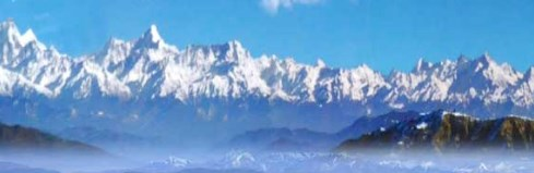 Scenic view of the Himalayas